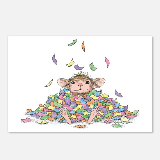 Raining Confetti Postcards (Package of 8)