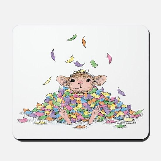Raining Confetti Mousepad