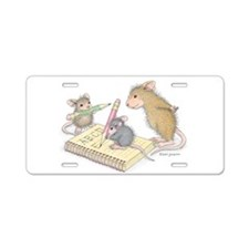 Mice Penmanship Aluminum License Plate