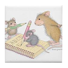 Mice Penmanship Tile Coaster
