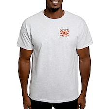 Samurai Back Ash Grey T-Shirt