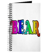 BEAR RAINBOW TEXT Journal