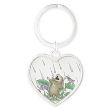 Singing in the Rain Heart Keychain