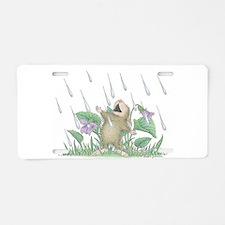 Singing in the Rain Aluminum License Plate