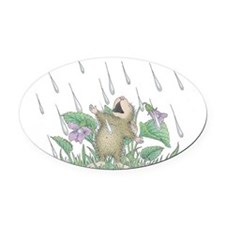 Singing in the Rain Oval Car Magnet