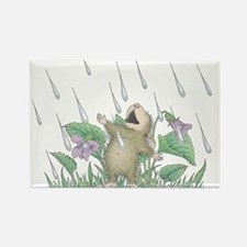 Singing in the Rain Rectangle Magnet