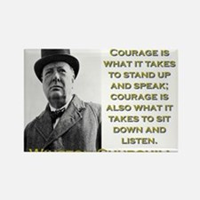 Courage Is What It Takes - Churchill Magnets