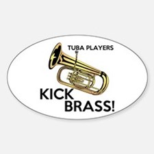 Tuba Players Kick Brass Decal
