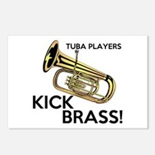 Tuba Players Kick Brass Postcards (Package of 8)