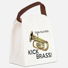 Tuba Players Kick Brass Canvas Lunch Bag