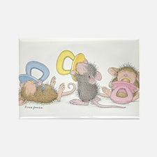 Mice Babies Rectangle Magnet