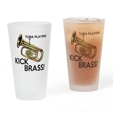 Tuba Players Kick Brass Drinking Glass