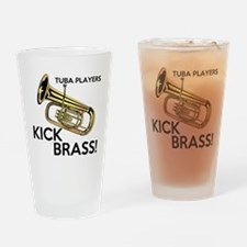 Tuba Players Kick Brass Drinking Glass