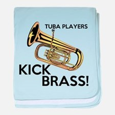 Tuba Players Kick Brass baby blanket