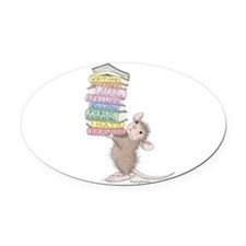 Smarty Pants Oval Car Magnet