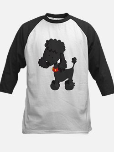 Poodle Black - Kids Baseball Jersey