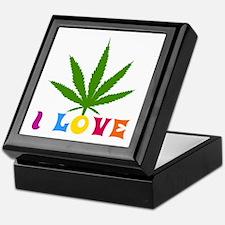 I Love Weed Keepsake Box