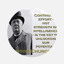 Continuous Effort - Churchill Round Ornament