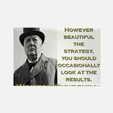 However Beautiful The Strategy - Churchill Magnets