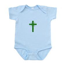 Pretty green christian cross 4 U P Body Suit