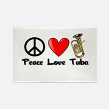 Peace, Love, Tuba Rectangle Magnet