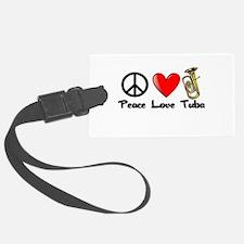 Peace, Love, Tuba Luggage Tag