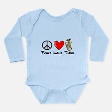 Peace, Love, Tuba Body Suit