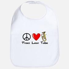Peace, Love, Tuba Bib