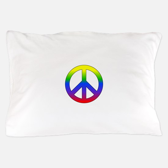 Rainbow Peace Sign Pillow Case