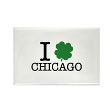 I Shamrock Chicago Rectangle Magnet