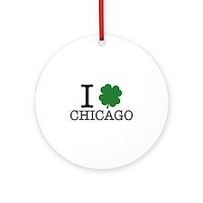 I Shamrock Chicago Ornament (Round)