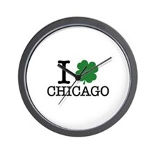 I Shamrock Chicago Wall Clock