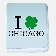 I Shamrock Chicago baby blanket