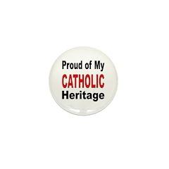 Proud Catholic Heritage Mini Button (10 pack)