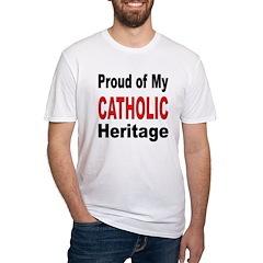 Proud Catholic Heritage Fitted T-Shirt