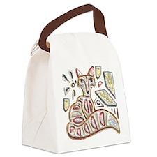 FANCY THE FOX Canvas Lunch Bag