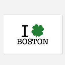 I Shamrock Boston Postcards (Package of 8)