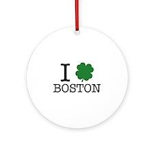 I Shamrock Boston Ornament (Round)