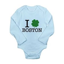 I Shamrock Boston Long Sleeve Infant Bodysuit