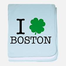 I Shamrock Boston baby blanket