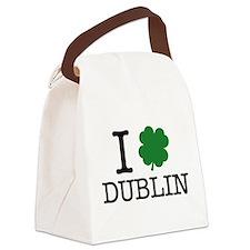 I Shamrock Dublin Canvas Lunch Bag