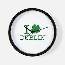 I Shamrock Dublin Wall Clock