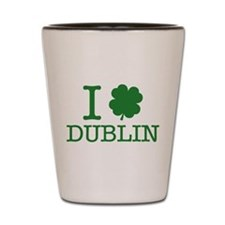 I Shamrock Dublin Shot Glass