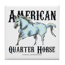 American Quarter Horse Tile Coaster