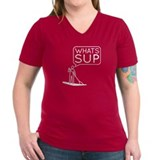Sup Womens V-Neck T-shirts (Dark)