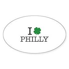 I Shamrock Philly Decal