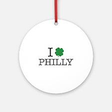 I Shamrock Philly Ornament (Round)