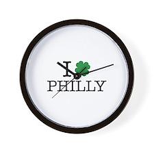 I Shamrock Philly Wall Clock