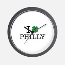 I Shamrock Philly Wall Clock