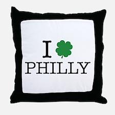 I Shamrock Philly Throw Pillow